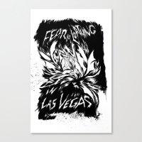 fear and loathing Canvas Prints featuring Fear & Loathing inks by Krisonautopilot