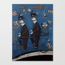 Two Men Travelling Canvas Print