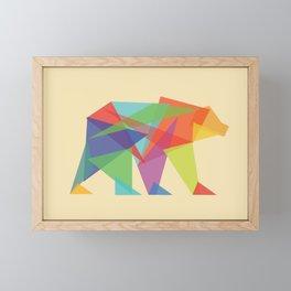 Fractal Geometric bear Framed Mini Art Print