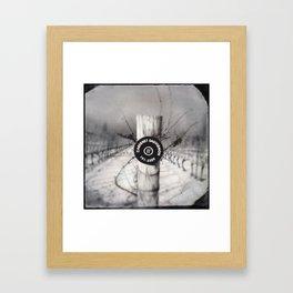 Cabernet - black and white wine photo vineyard Framed Art Print