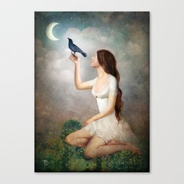 The Moon Asked The Crow Canvas Print