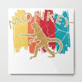 Monkey gift chimpanzee primate macaque monkey Metal Print