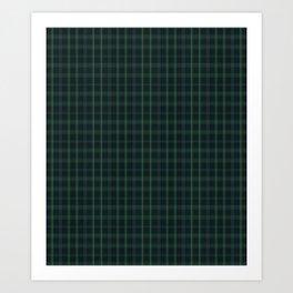 Green and Blue Plaid Art Print