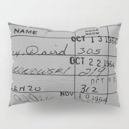 Library Card 23322 Gray Pillow Sham