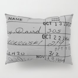 Library Card 23322 Gray Pillow Sham