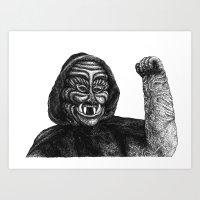 fist pump Art Print
