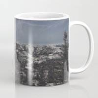 the mountains are calling Mugs featuring The mountains are calling by UtArt
