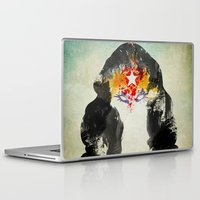 muscle Laptop & iPad Skins featuring Muscle Girl by Arian Noveir