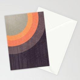 Moldovan Sunset - Retro Circles Stationery Cards