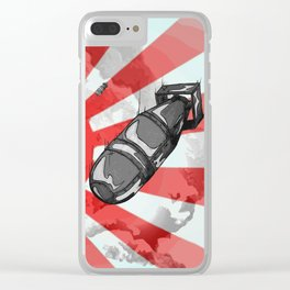 Atom Bomb Fat Boy Clear iPhone Case