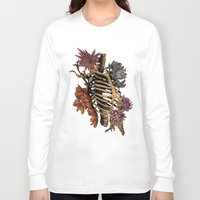 bones Long Sleeve T-shirts featuring Bones by Zé Pereira Illustration