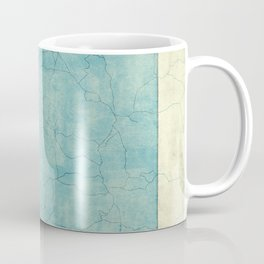 Nevada State Map Blue Vintage Coffee Mug