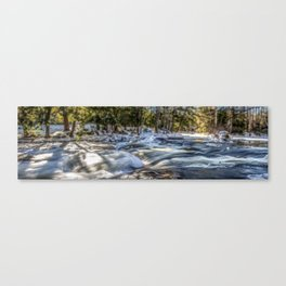 The Blackwater in Winter Canvas Print