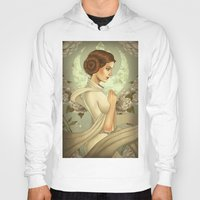 princess leia Hoodies featuring Princess Leia by trevacristina