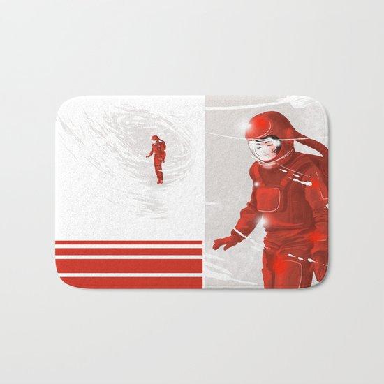 Hiroko in Storm // (astronaut girl) Bath Mat