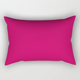 Crimson Red Solid Matte Colour Palette Rectangular Pillow