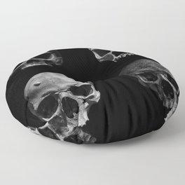 Skulls quartet BW Floor Pillow