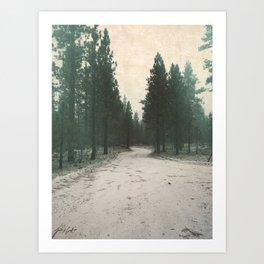 Snow Trail Art Print