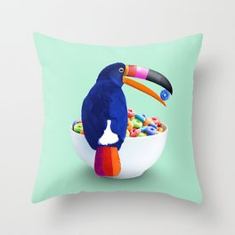 LOOP TOUCAN Throw Pillow