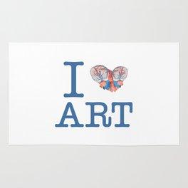 I Heart Art Rug
