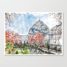 Detroit Belle Isle Conservatory Canvas Print