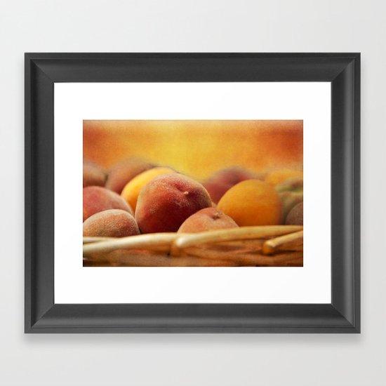 Fuzzy Peach Framed Art Print