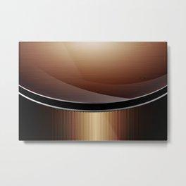 Wood Carbon Pattern Metal Print