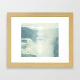 Geometric Waterfall (Western Sea) Framed Art Print