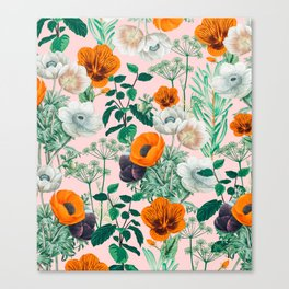 Wildflowers #pattern #illustration Canvas Print