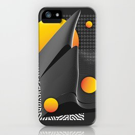 Graphik wave #33 by franck_jeannin iPhone Case