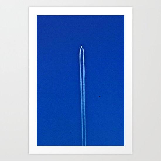 eagle racing plane Art Print