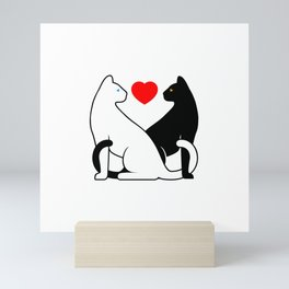Cats in Love Mini Art Print