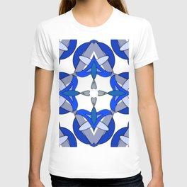 Abstract Half Moons - Blue T-shirt