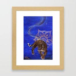 Galaxy Jaguar Framed Art Print