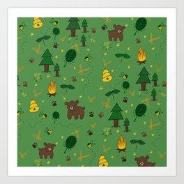 forest bears Art Print
