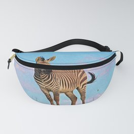 Hartmanns Zebra | Mountain Stallion - Colored Pencil Illustration Fanny Pack