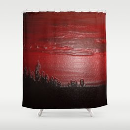 Lacquer Sunset Shower Curtain