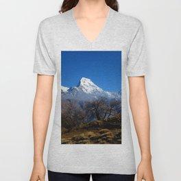 Panoramic View Of Annapurna Ghorepani Poon Hill Unisex V-Neck