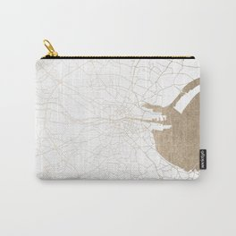 Dublin White on Gold Street Map II Carry-All Pouch