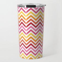 Rainbow Chevron #1 Travel Mug