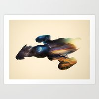 serenity Art Prints featuring Serenity by Victor Vercesi