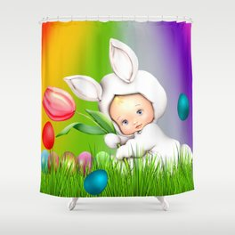 Easter Lawn Celebration Shower Curtain