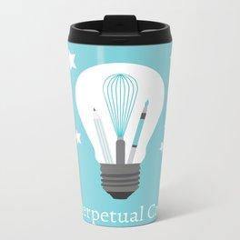The Perpetual Creator Logo Metal Travel Mug