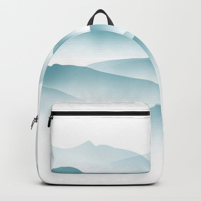 blue minimalist clouds Backpack