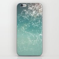 physics iPhone & iPod Skins featuring Fresh summer abstract background. Connecting dots, lens flare by AMULET