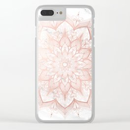 Imagination Rose Gold Clear iPhone Case