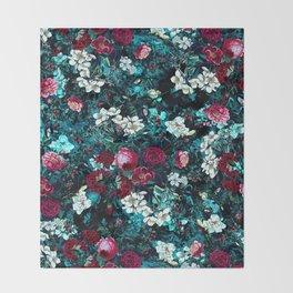 Night Garden IX Throw Blanket