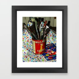 Brushes and Paint Framed Art Print