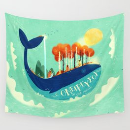 :::Tall Tree Whale::: Wall Tapestry