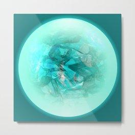 Chrystal Glow Blue Abstract Metal Print